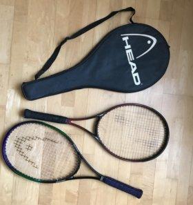 Ракетки для большого тенниса -2шт +чехол