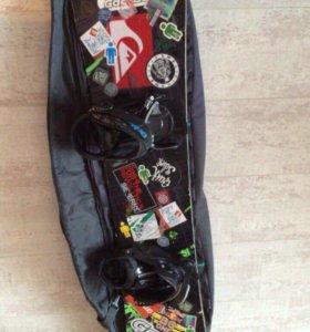 Сноуборд+крепления+чехол+(ботинки в подарок)
