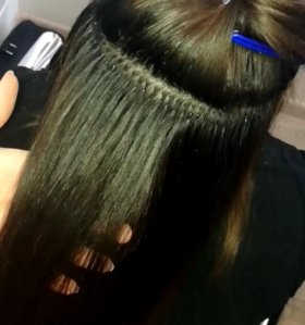 наращивание волос.славянка