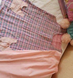 Блузка и бриджи на беременную