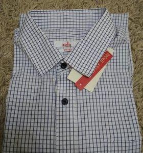 Рубашка мужская с длинным рукавом,новая