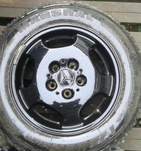 Комплект зимних шипованных колес r15 мерседес