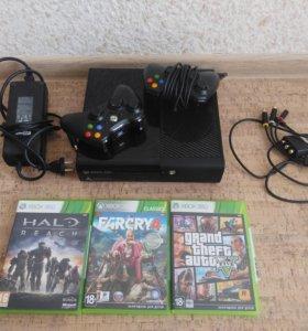 XBOX 360 500 гб + 3 игры