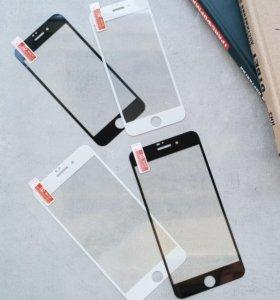 Защитное 3D Стекло на IPhone 6, 6+, 7, 7+, 8