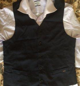 Подростковые жилет и рубашка Синар