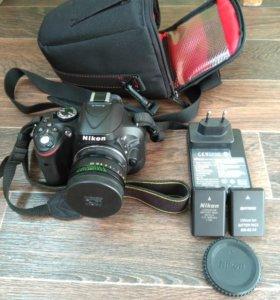 Nikon D5200 + Helios 44-2