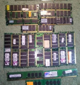 Комплект оперативной памяти (старой) sdram / DDR1