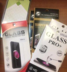 Защитное стекло iPhone 5 , 6 , 7 , 8, X