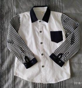 Рубашка классика хб на мальчика 8-9 л