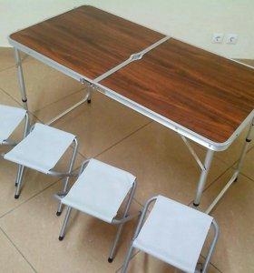 Стол складной туристический +4 стула