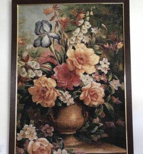Картина Цветы в вазе