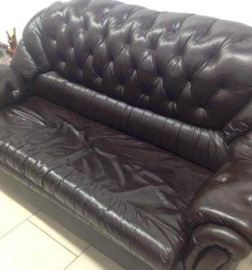 Кожаный диван!