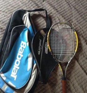 Теннисная ракетка с чехлом и сумкой