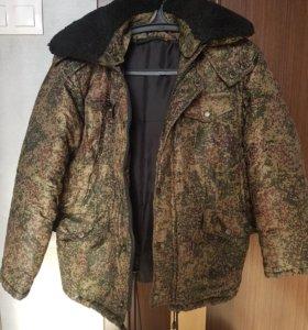 Куртка зимняя цифра камуфляжная
