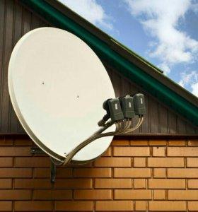 Установка спутниковых тарелок, настройка