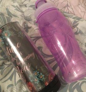 Бутылки в школу для вода и других напитков