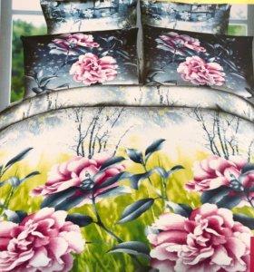 Постельное белье цветочное 2СП