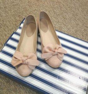 Балетки с бантиками ideal shoes