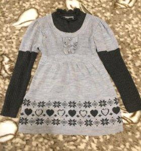 Тёплое платье 110-130