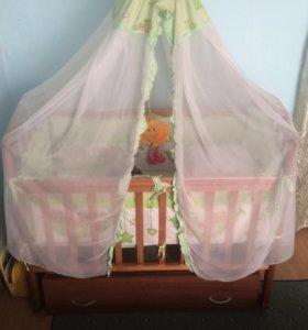 Детская кроватка в отличном состоянии