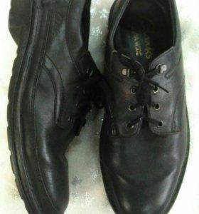 Размер 47! Мужские кожаные туфли