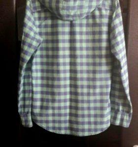 Рубашка в клетку 100%cotton р-р 39-40