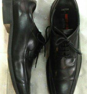 Размер 45! Кожаные мужские туфли