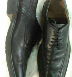 Размер 45! Кожаные туфли