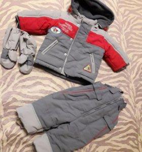 Зимняя куртка и комбинезон на мальчика