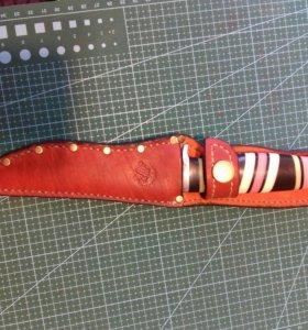 Ножны на ножи, топоры, шампура из натуральной кожи