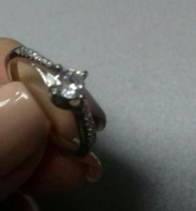 Колечко серебро камень циркон кубич. 16.5 (17)