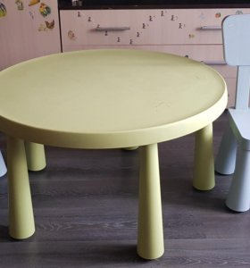 Стол и стул икея