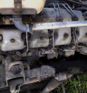 двигатель Камаз с коробкой модель 74010