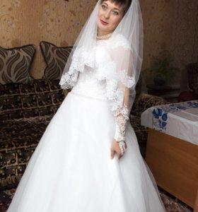 продам свадебное платье в кружева
