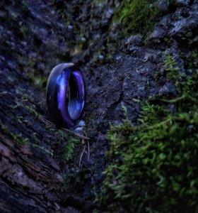Кольца из дерева и смолы (ручная работа)