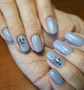 наращивание ноктей гелем