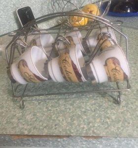 Интересный кофейный набор с подставкой ☕️