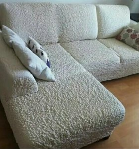 Чехлы без рюшей на диван кресла стулья