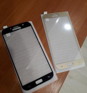 Защитное стекло на Samsung A7