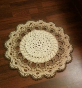 Салфетка - коврик ручной вязки