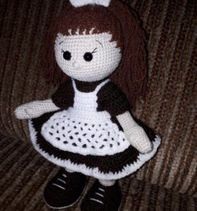 Куколка-школьница, рост 23-24см, в наличии.