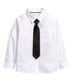 Фирма H&M.новая белая рубашка на мальчика 4-5 года