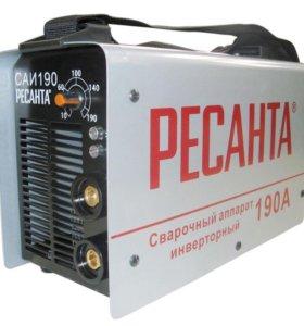 Новый Инверторный сварочный аппарат Ресанта САИ190