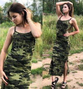 Новое платье-милитари.