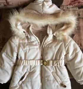 Куртка для девочки, зима, на 1г-1,5