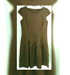 Платье сарафан черное, темно-серое новое р.46