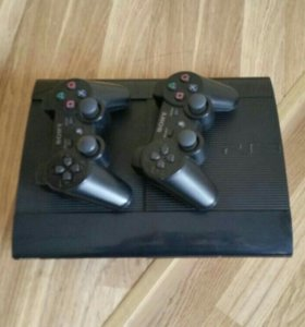 Sony ps3 super slim +2 геймпада
