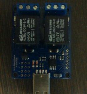 USB термометр/термостат c 2 реле RODOS-6