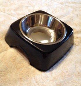 Новая двойная Акриловая миска для кошек собак