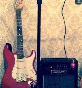 Продам электро-гитару и комбик